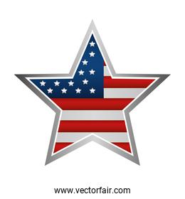 united states of america emblem with star shape