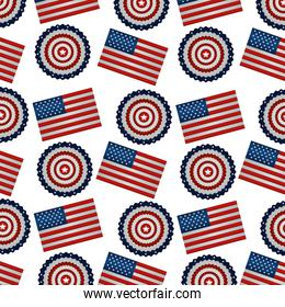 united states of america flag and laces pattern