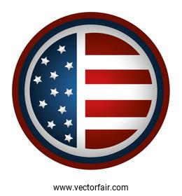 united states of america emblem with circular shape