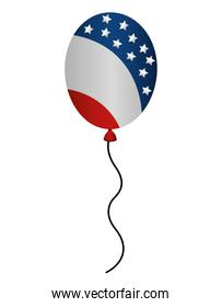 balloons air party with USA flag