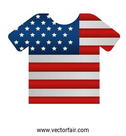 shirt with united states of america flag