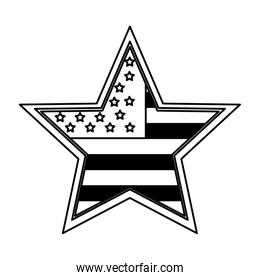 united states of america shape star