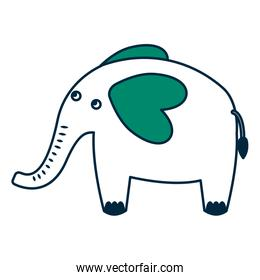 cute elephant animal icon