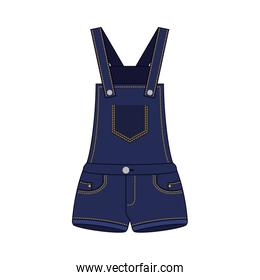 female overall in jean