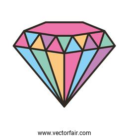 diamond gem isolated icon