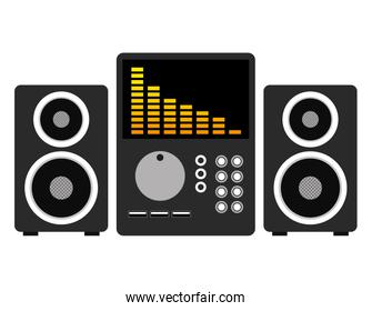 music audio player with speakers