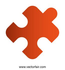 puzzle piece isolated icon