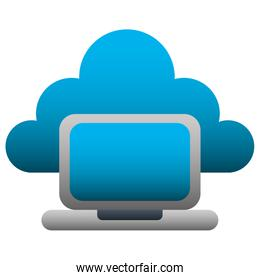 cloud computing with laptop