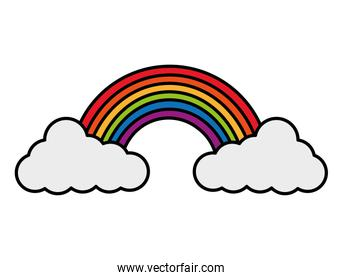rainbow clouds colors weather icon