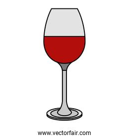 red wine glass cup beverage isolated