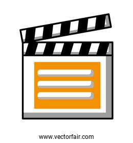 clapper board video player action image