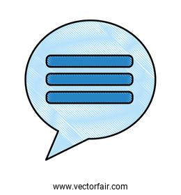 chat bubble conversation dialog social media