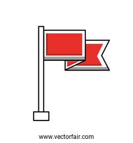 flag marker isolated icon