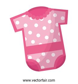 baby shower card with dotted pink dress