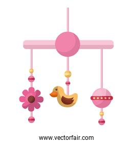 baby mobile hanging isolated icon
