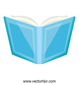 open book supply school on white background