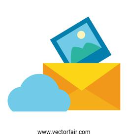 cloud computing send email picture