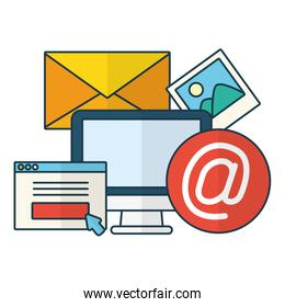 computer website picture send email