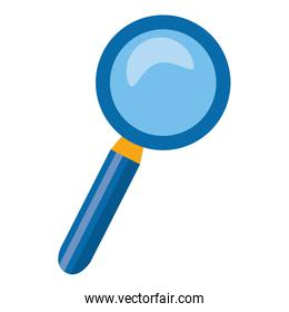 magnifying glass search icon on white background