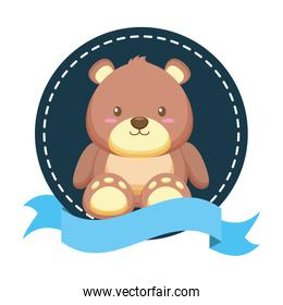 bear toy decoration baby shower poster
