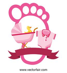 girl decoration baby shower card
