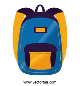 backpack school on white background