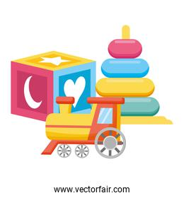set of baby toys icons