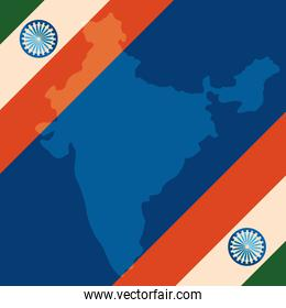 indian flags independence day frame