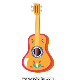 mexican traditional guitar instrument icon