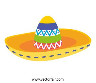 mexican hat traditional isolated icon