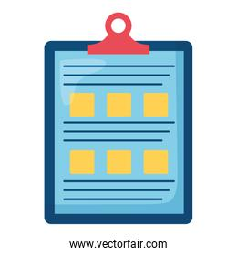 checklist clipboard document isolated icon