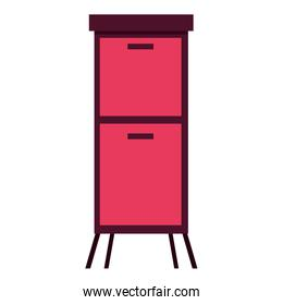 furniture drawers cabinet on white background