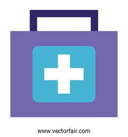 medical kit first aid on white background