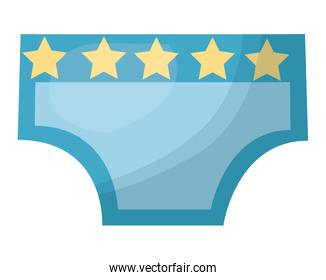 baby pants with stars isolated icon