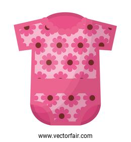 baby clothes with flowers