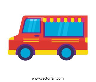 food truck on white background