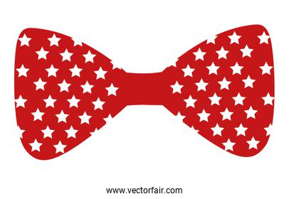 bow tie with stars isolated icon