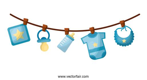 set baby boy accessories hanging icon