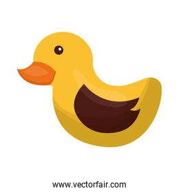 toy rubber duck isolated icon