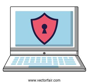 laptop computer with security shield