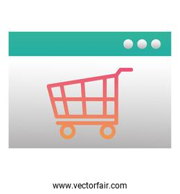 template webpage with shopping cart