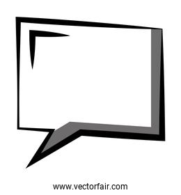 speech bubble with square shaped icon