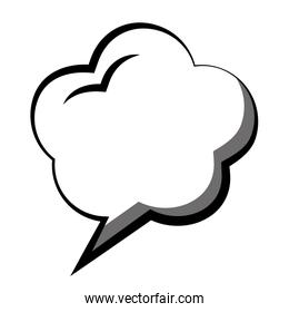 speech bubble with dream shaped icon