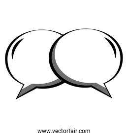 couple speech bubble with ovals shaped icon