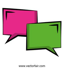 couple speech bubble with squares shaped icon