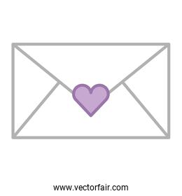 envelope with heart love