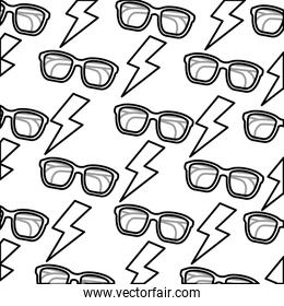 eye glasses with thunders pattern