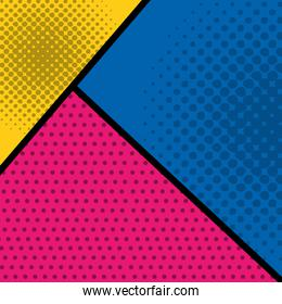 pattern background with shapes and points pop art style