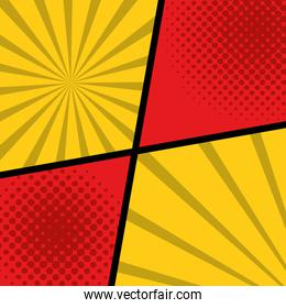 pattern background with shapes pop art style