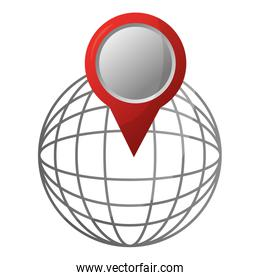 location on global map pin gps navigation concept